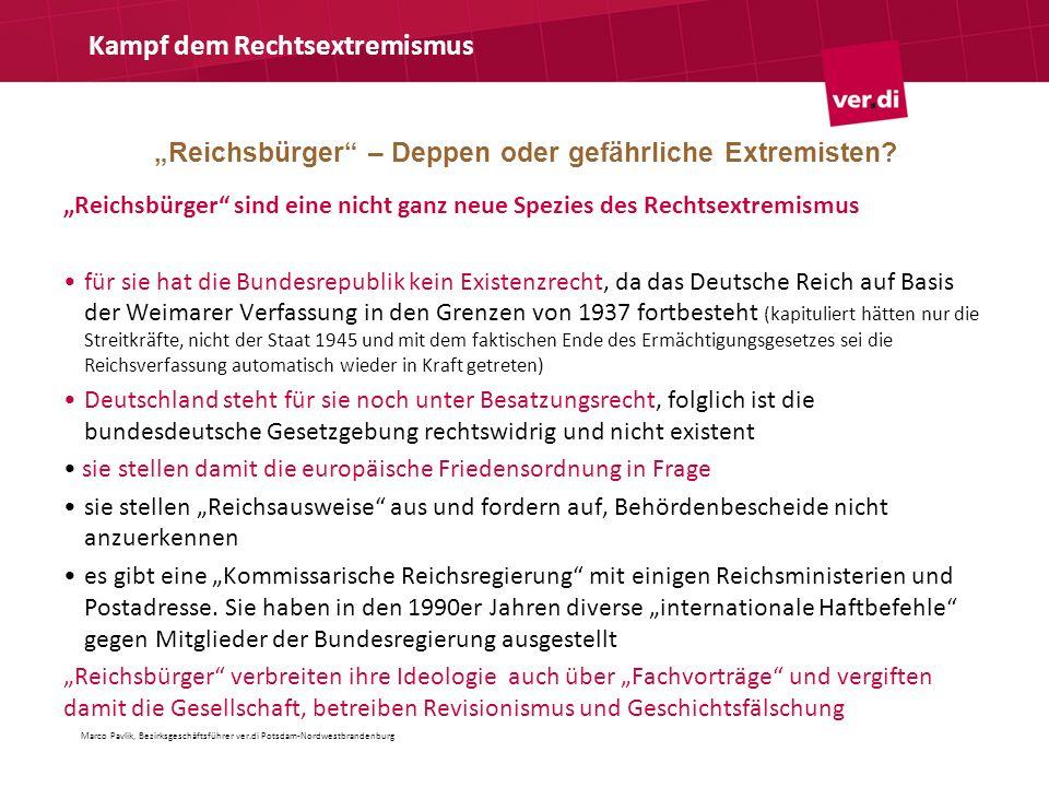 """""""Reichsbürger – Deppen oder gefährliche Extremisten"""