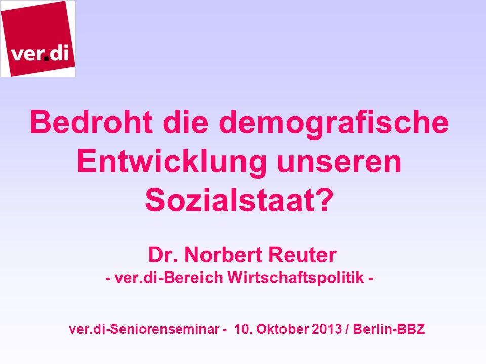 ver.di-Seniorenseminar - 10. Oktober 2013 / Berlin-BBZ