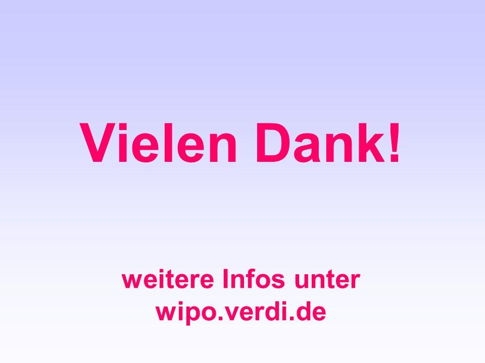 weitere Infos unter wipo.verdi.de