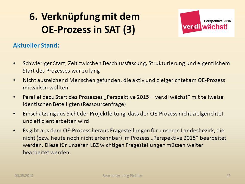 6. Verknüpfung mit dem OE-Prozess in SAT (3)