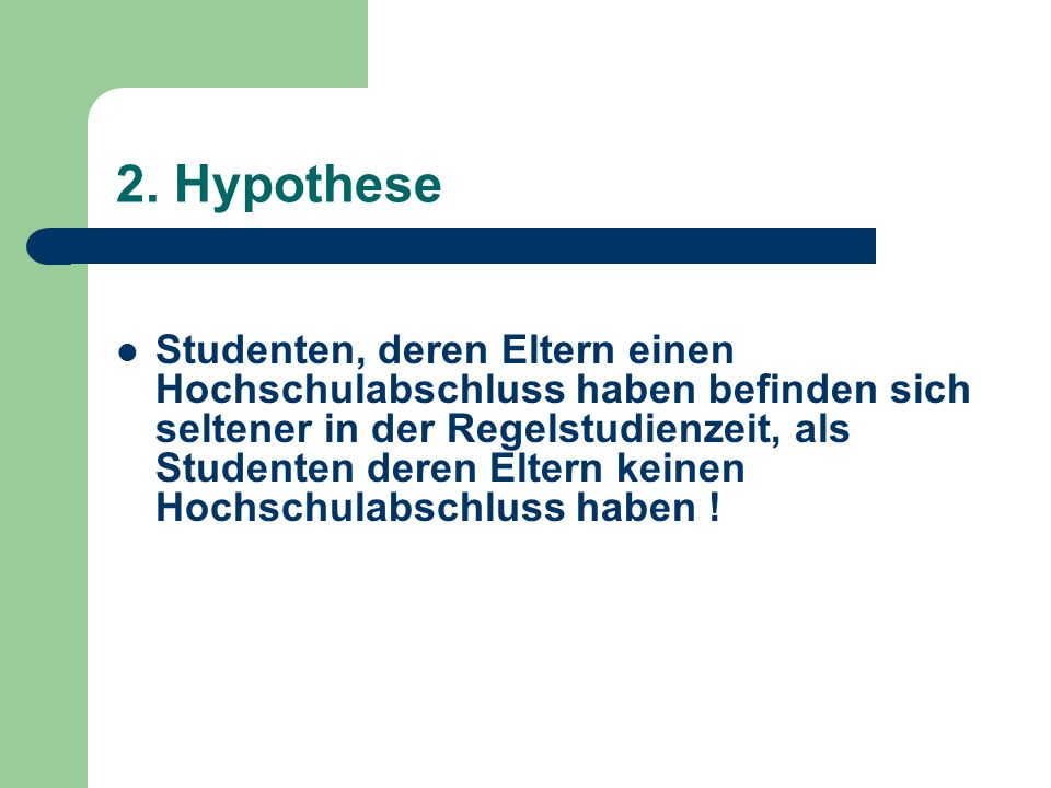 2. Hypothese