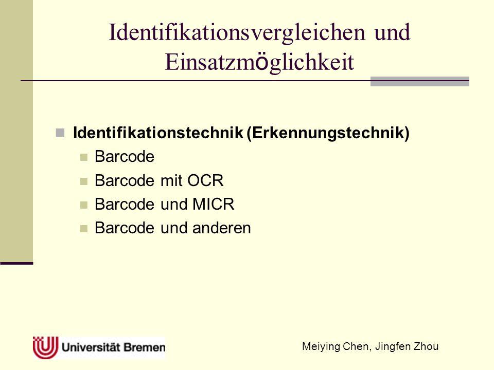 Identifikationsvergleichen und Einsatzmöglichkeit