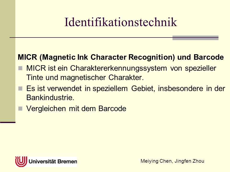 Identifikationstechnik