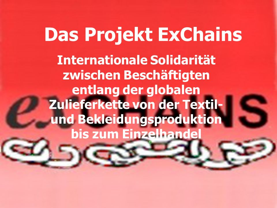 Das Projekt ExChains