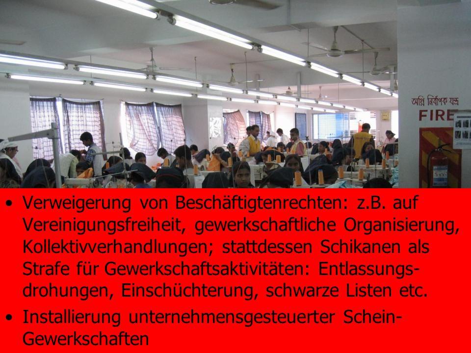 Verweigerung von Beschäftigtenrechten: z. B