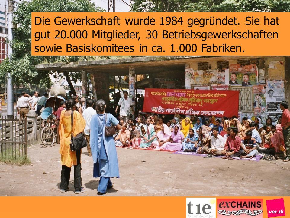 Die Gewerkschaft wurde 1984 gegründet. Sie hat gut 20