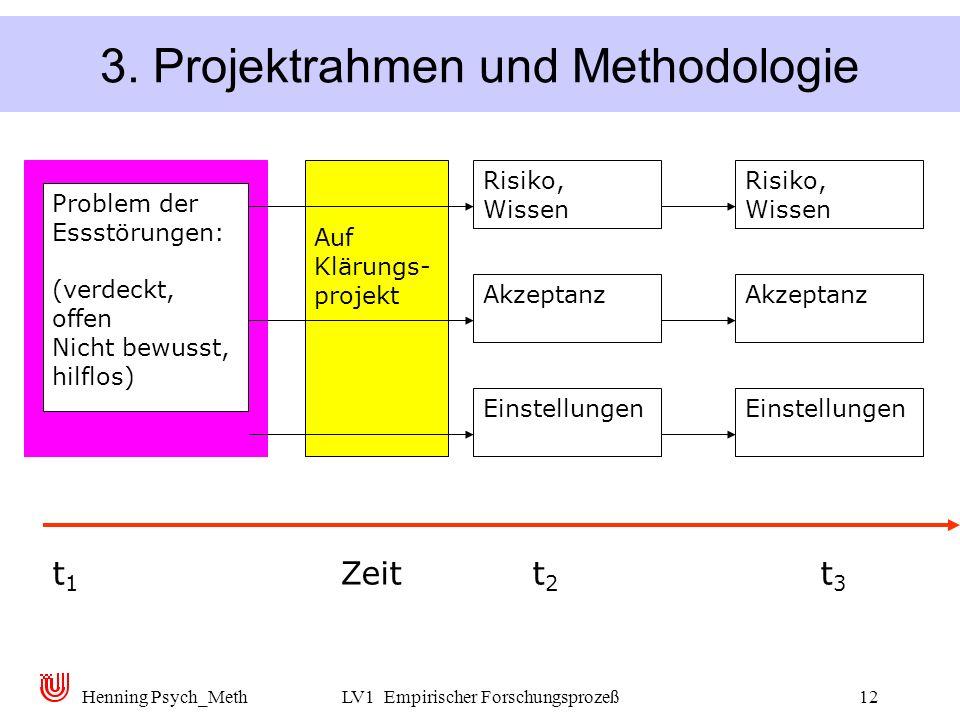 3. Projektrahmen und Methodologie