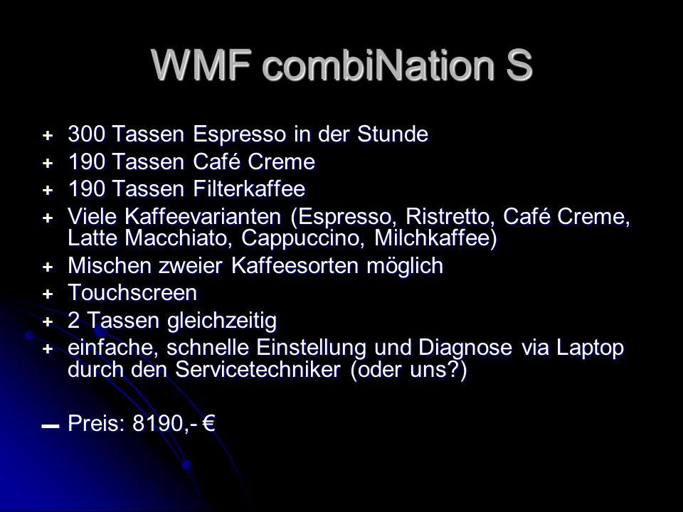 WMF combiNation S 300 Tassen Espresso in der Stunde