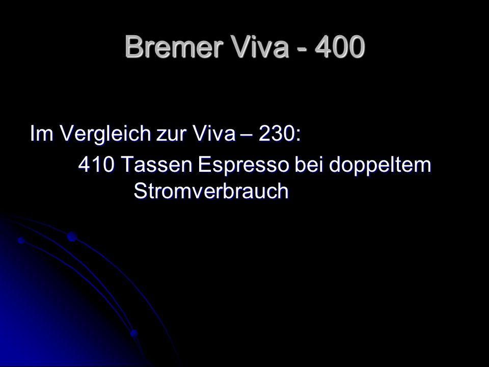 Bremer Viva - 400 Im Vergleich zur Viva – 230: