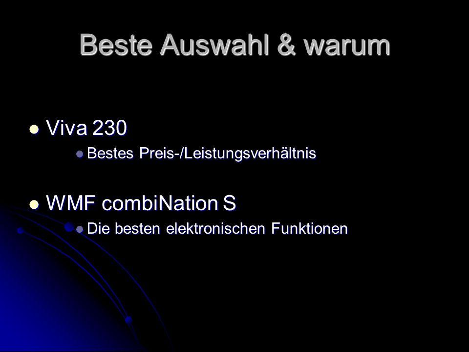 Beste Auswahl & warum Viva 230 WMF combiNation S
