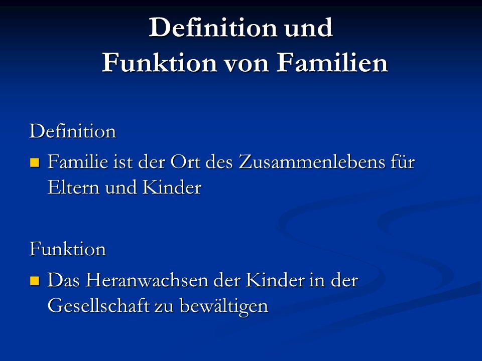 Definition und Funktion von Familien