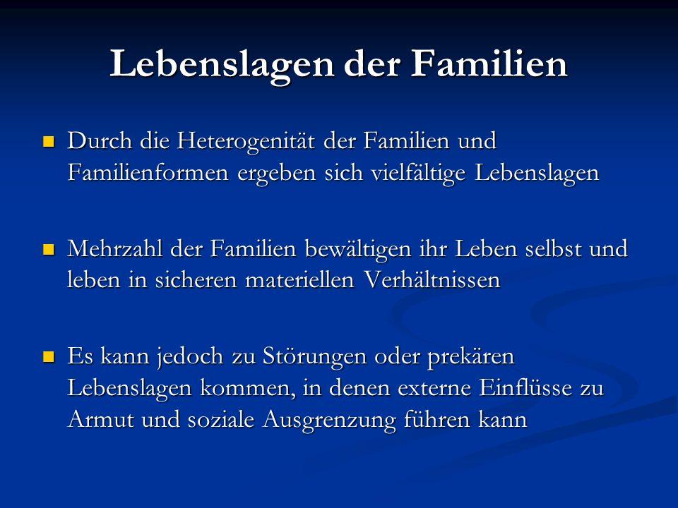 Lebenslagen der Familien