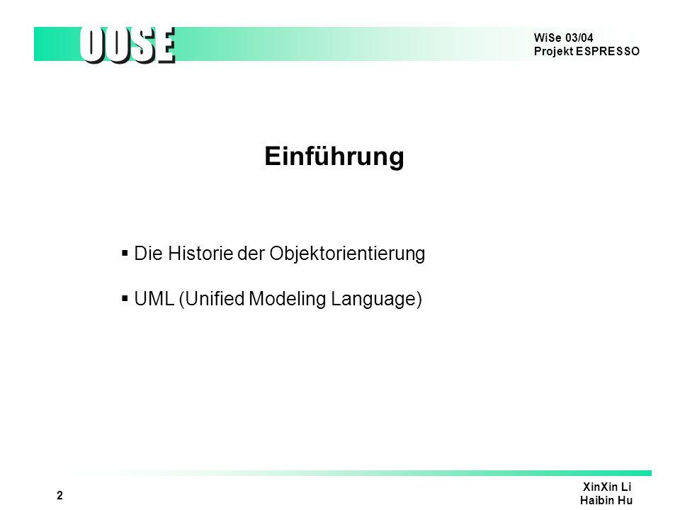 Einführung Die Historie der Objektorientierung