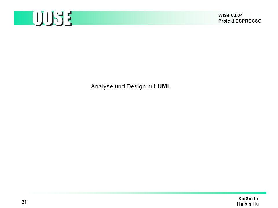 Analyse und Design mit UML