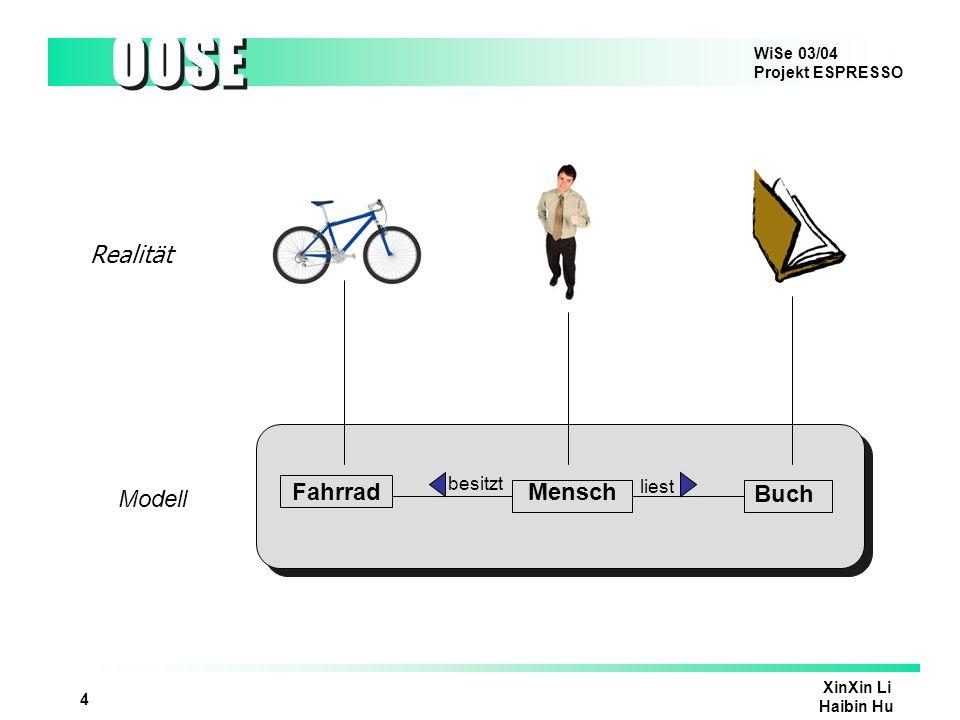 Realität Fahrrad Mensch Modell Buch besitzt liest