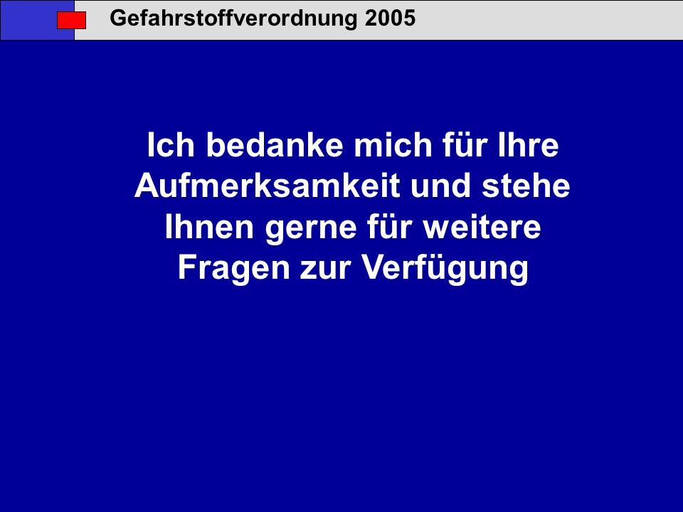 Gefahrstoffverordnung 2005
