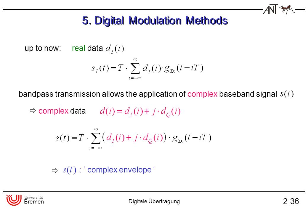5. Digital Modulation Methods