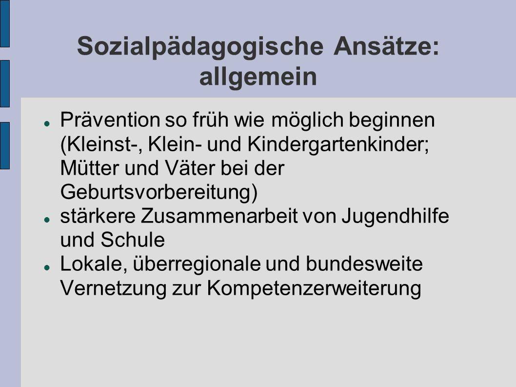 Sozialpädagogische Ansätze: allgemein