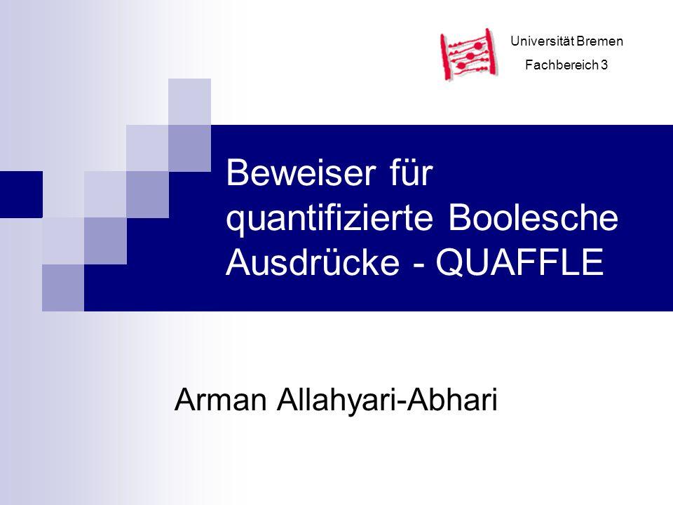 Beweiser für quantifizierte Boolesche Ausdrücke - QUAFFLE