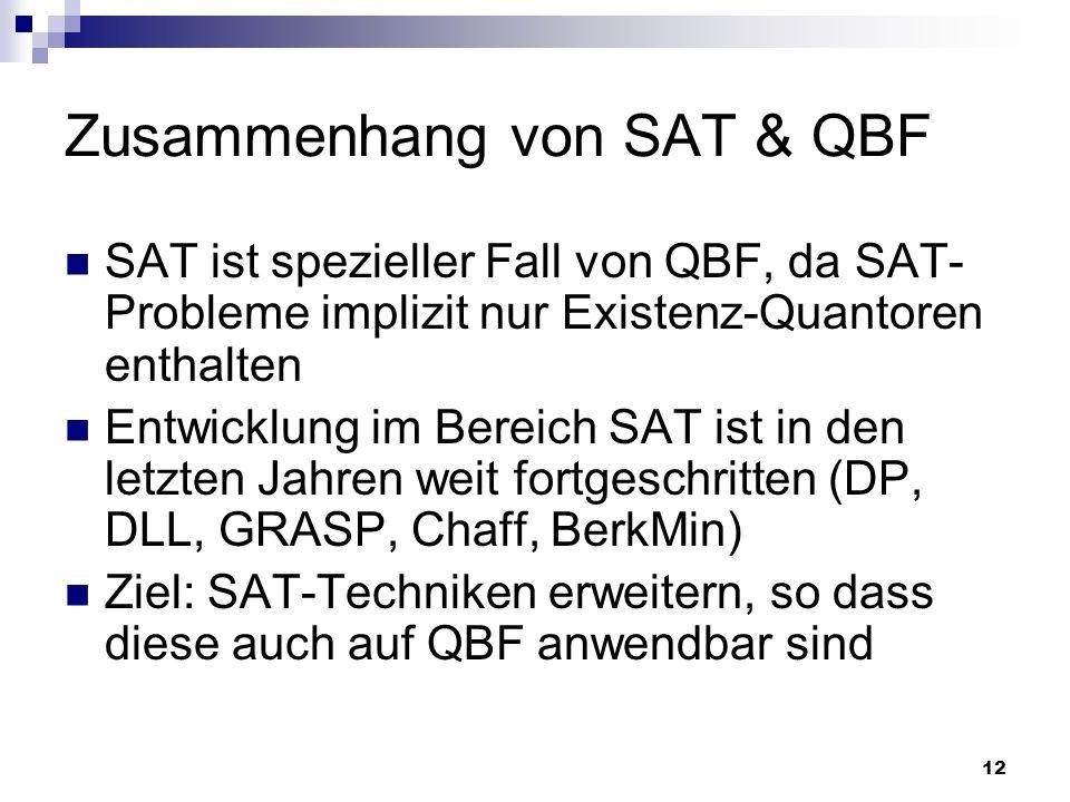 Zusammenhang von SAT & QBF