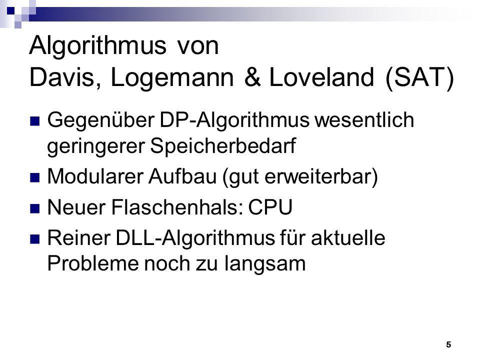 Algorithmus von Davis, Logemann & Loveland (SAT)