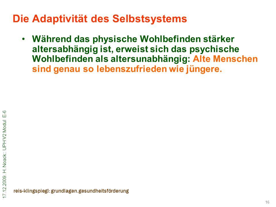 Die Adaptivität des Selbstsystems