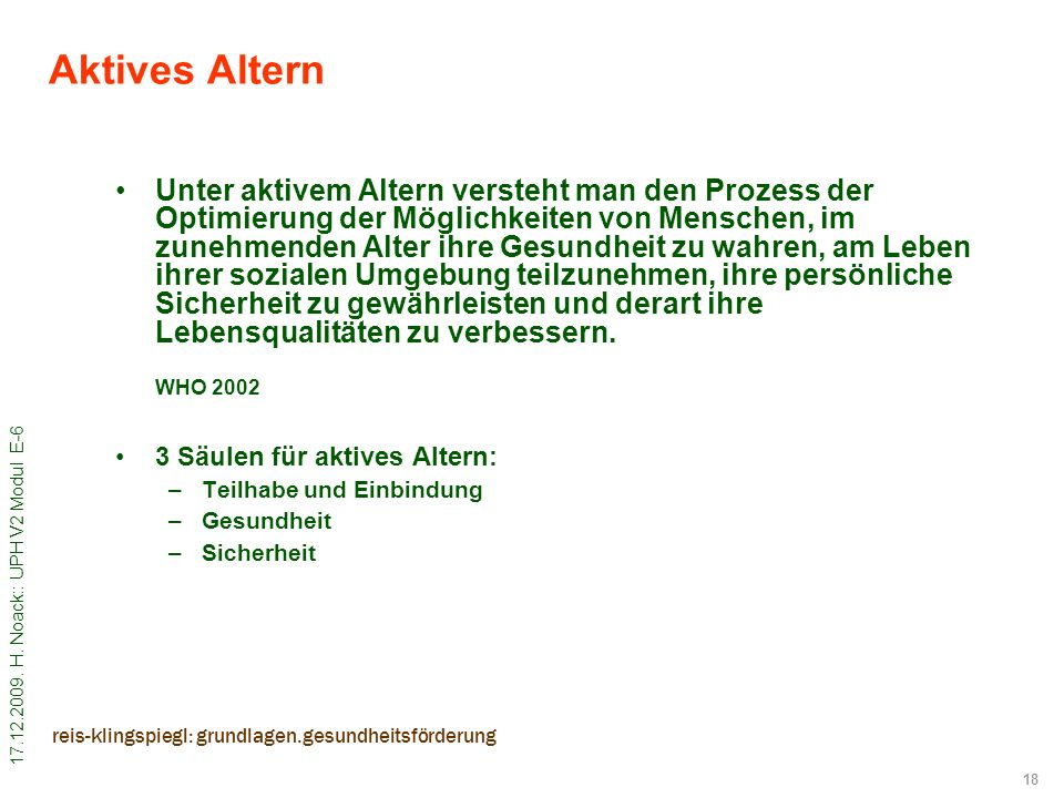 Aktives Altern