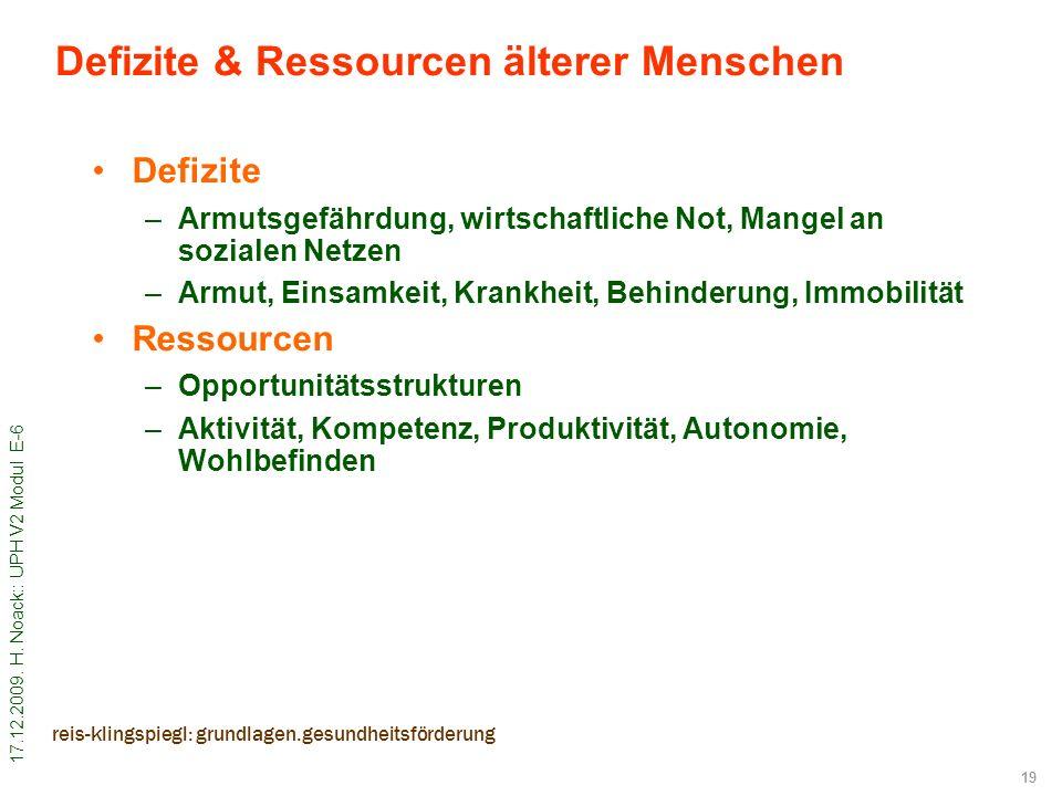 Defizite & Ressourcen älterer Menschen