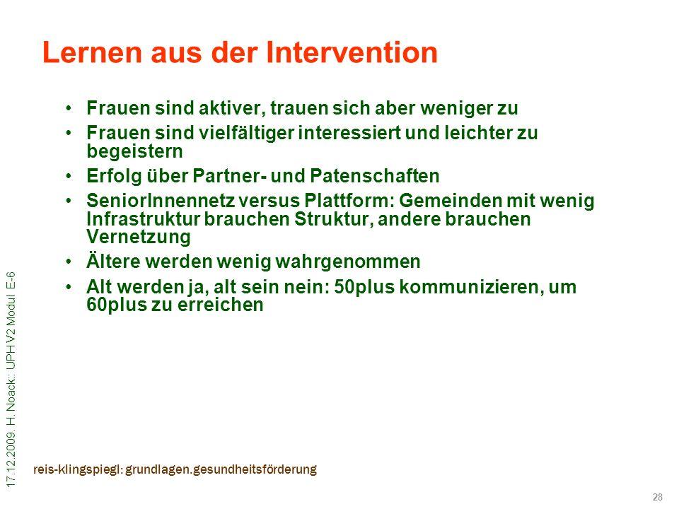 Lernen aus der Intervention