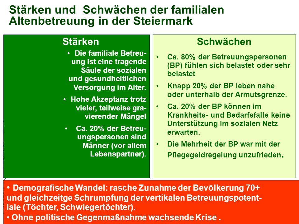Stärken und Schwächen der familialen Altenbetreuung in der Steiermark