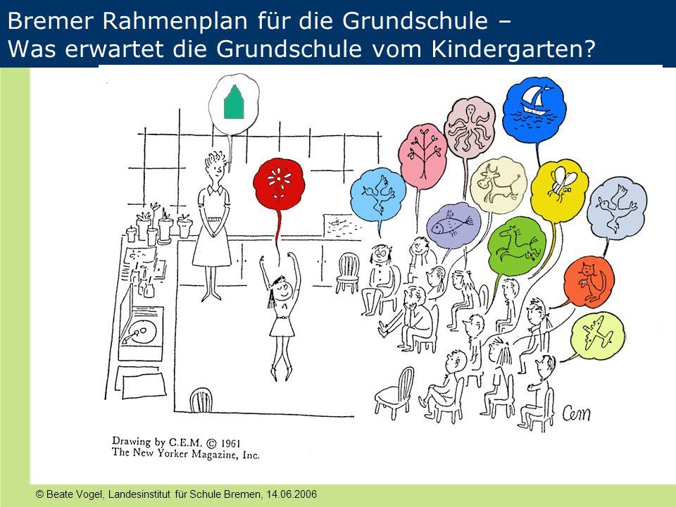 IATEFL, Harrogate Bremer Rahmenplan für die Grundschule – Was erwartet die Grundschule vom Kindergarten