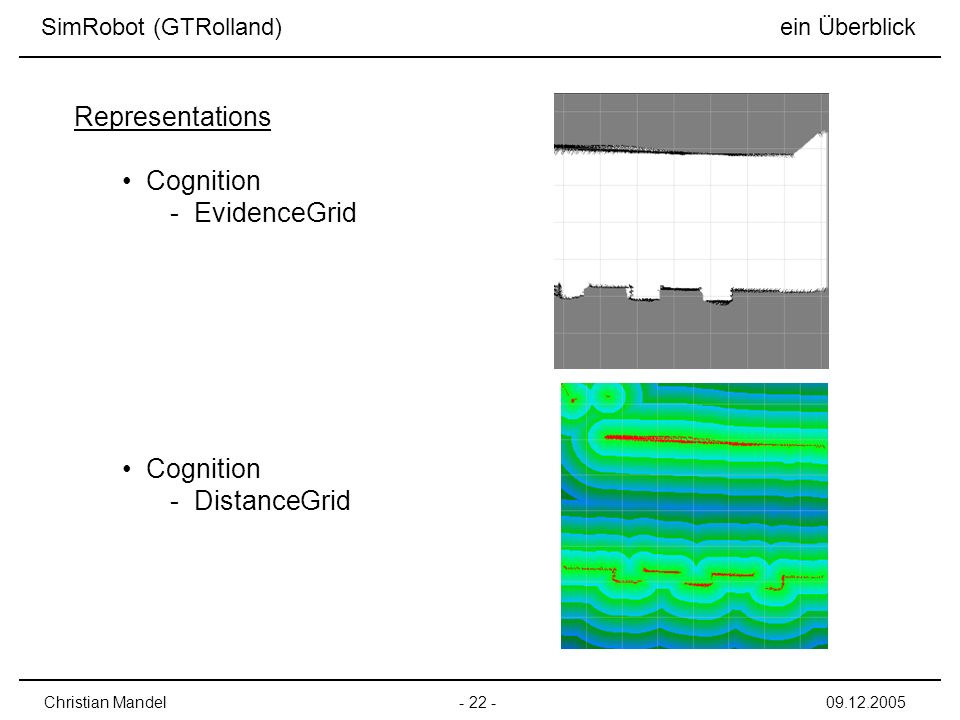 Representations Cognition EvidenceGrid DistanceGrid