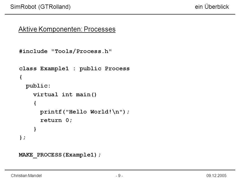 Aktive Komponenten: Processes