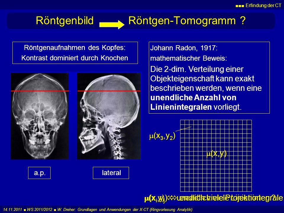 Röntgenbild Röntgen-Tomogramm