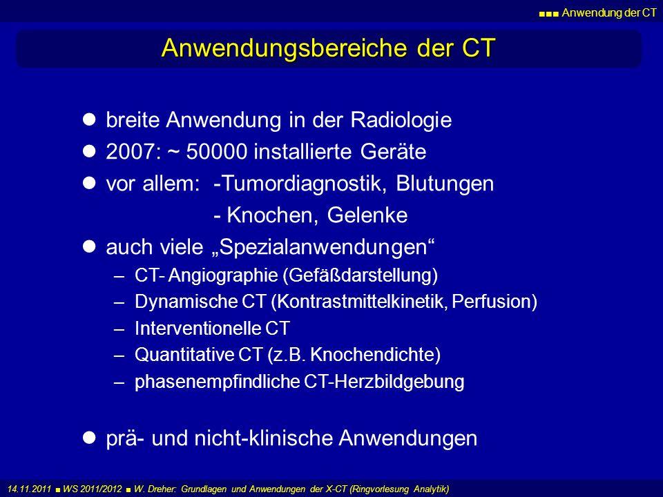 Anwendungsbereiche der CT