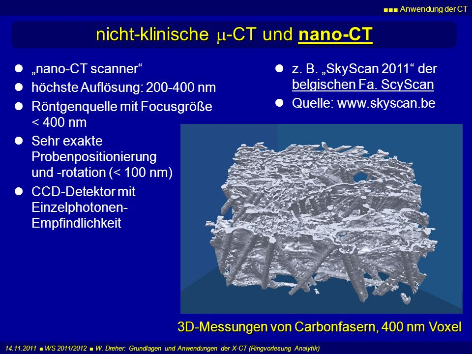 nicht-klinische m-CT und nano-CT
