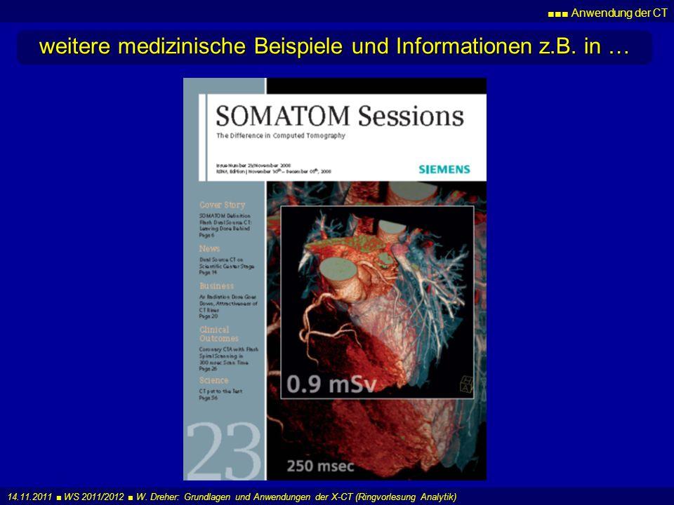weitere medizinische Beispiele und Informationen z.B. in …