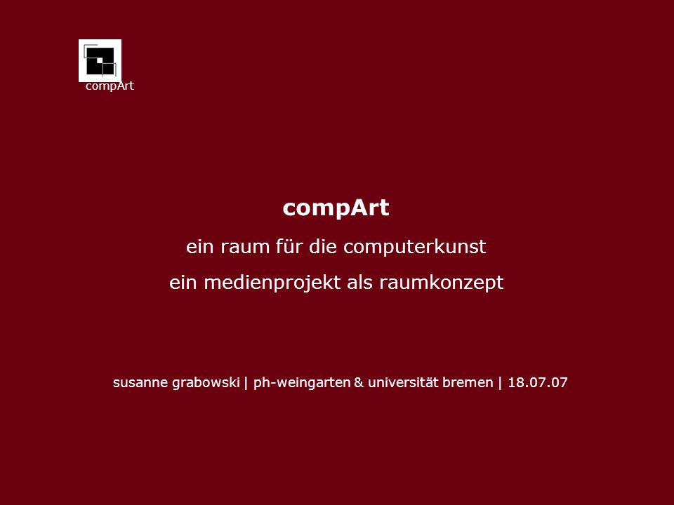 compArt ein raum für die computerkunst