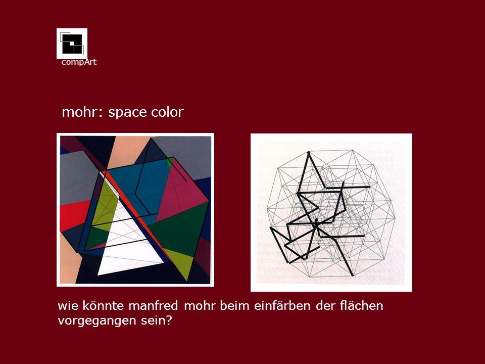 mohr: space color wie könnte manfred mohr beim einfärben der flächen