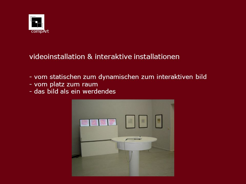 videoinstallation & interaktive installationen
