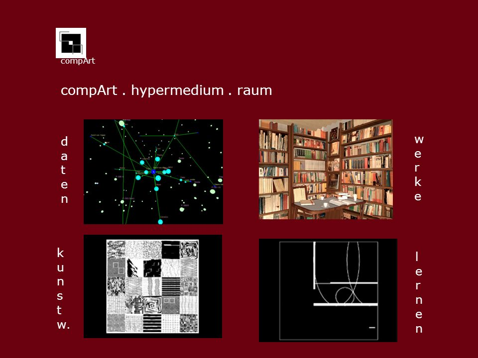 compArt . hypermedium . raum