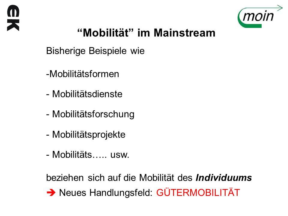 Mobilität im Mainstream