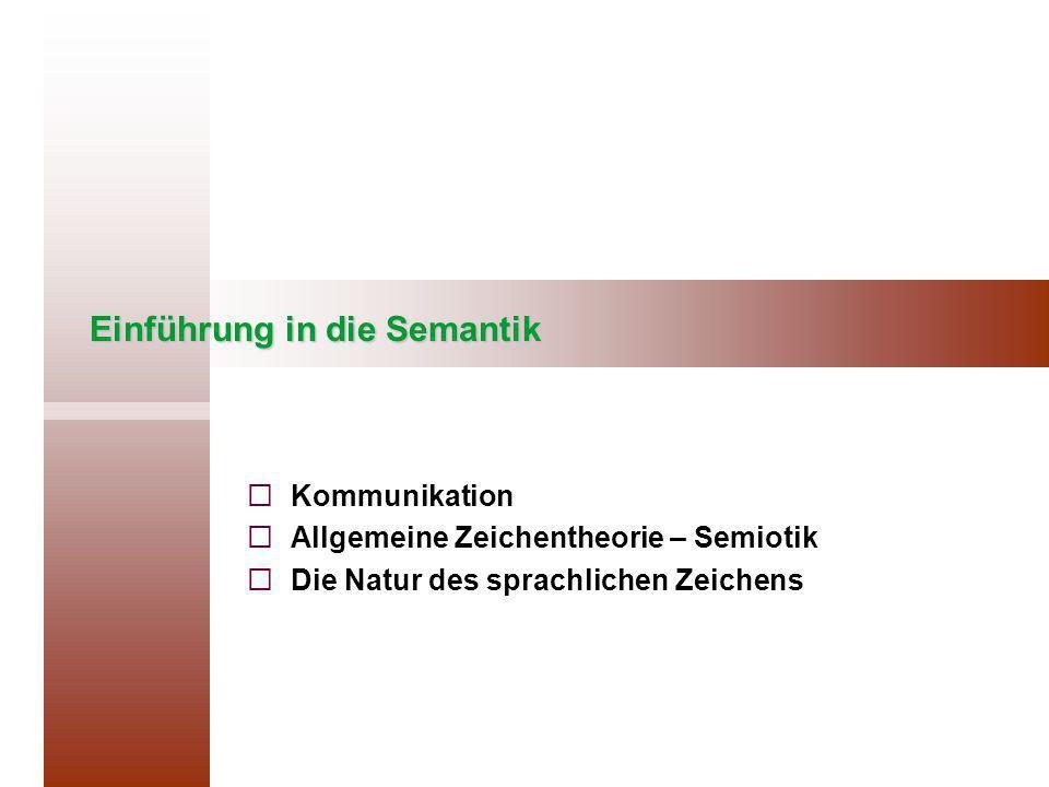 Einführung in die Semantik