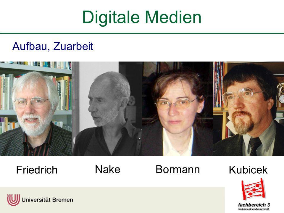 Digitale Medien Aufbau, Zuarbeit Friedrich Nake Bormann Kubicek