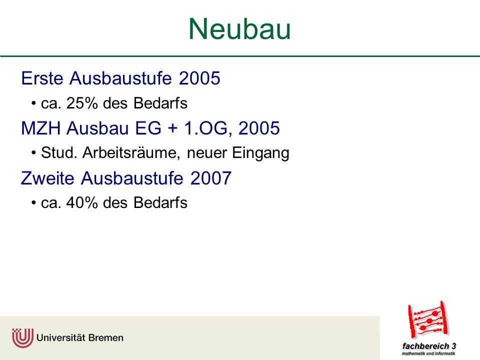 Neubau Erste Ausbaustufe 2005 MZH Ausbau EG + 1.OG, 2005