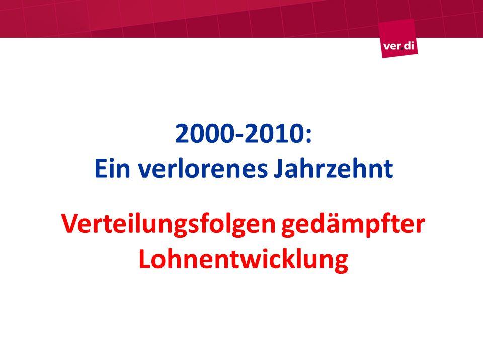 2000-2010: Ein verlorenes Jahrzehnt