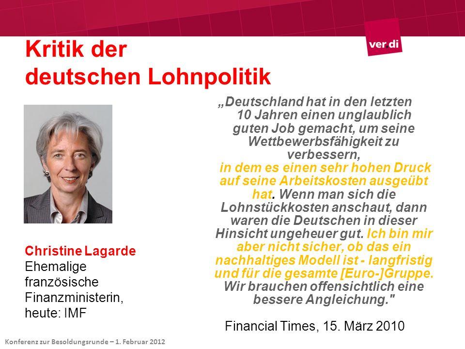 Kritik der deutschen Lohnpolitik