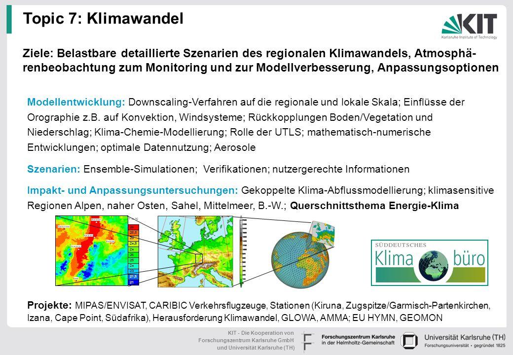 Topic 7: Klimawandel