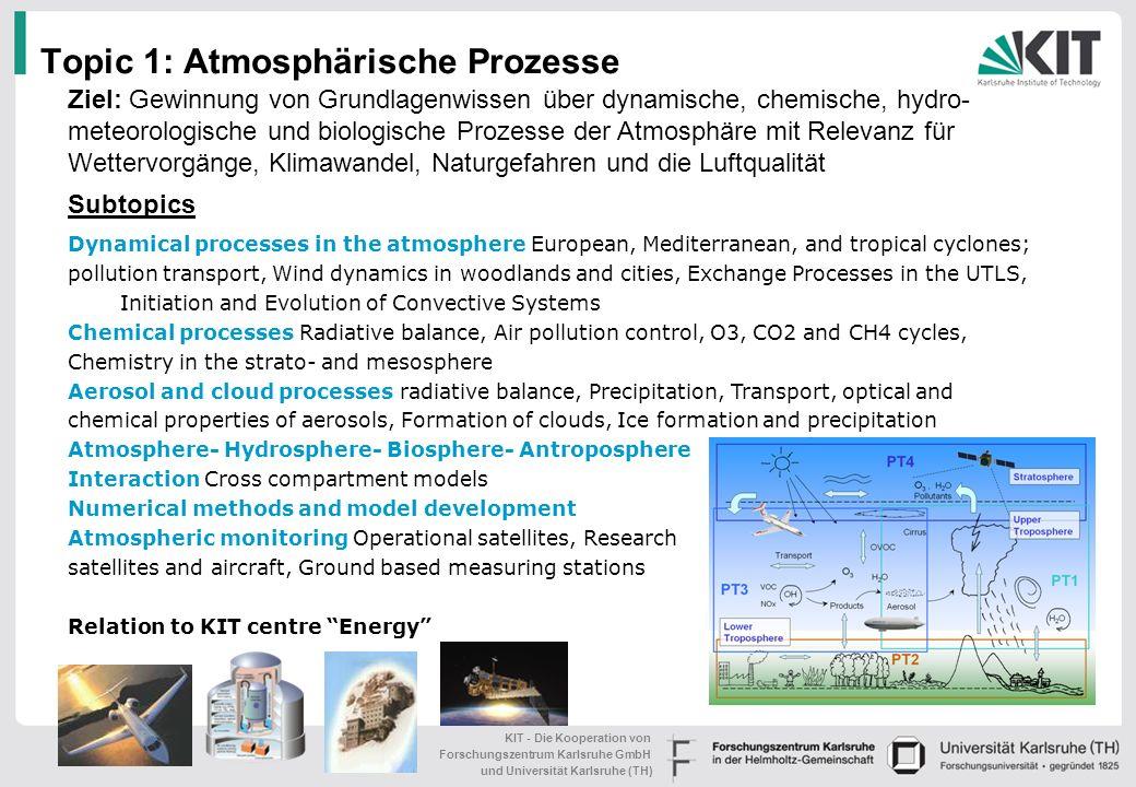 Topic 1: Atmosphärische Prozesse