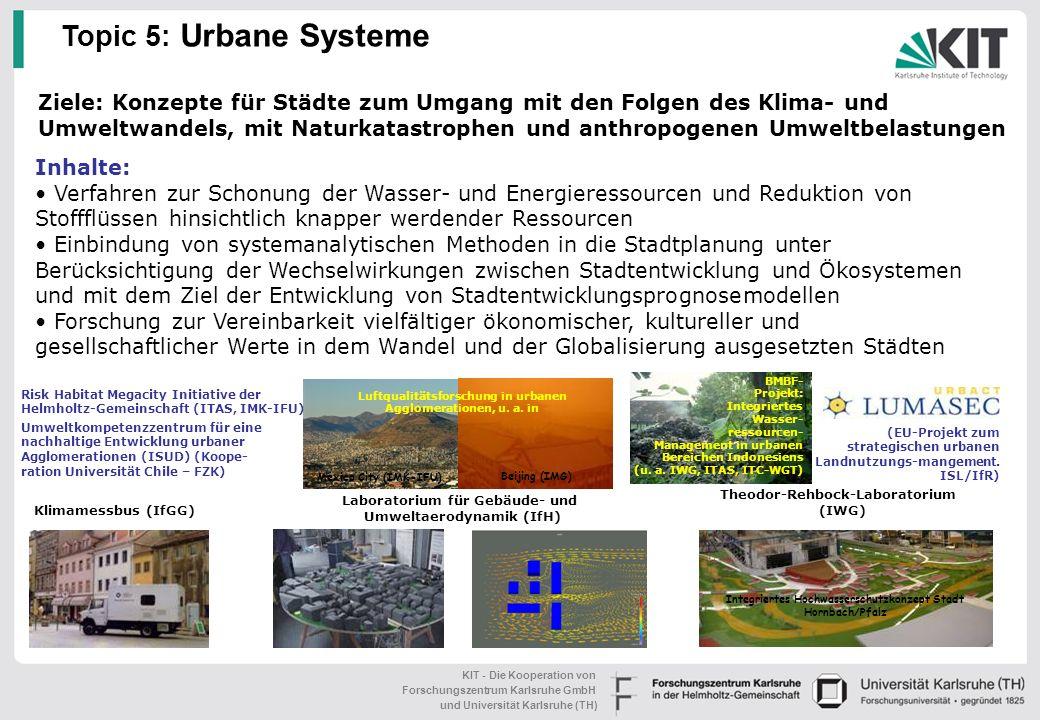 Luftqualitätsforschung in urbanen Agglomerationen, u. a. in